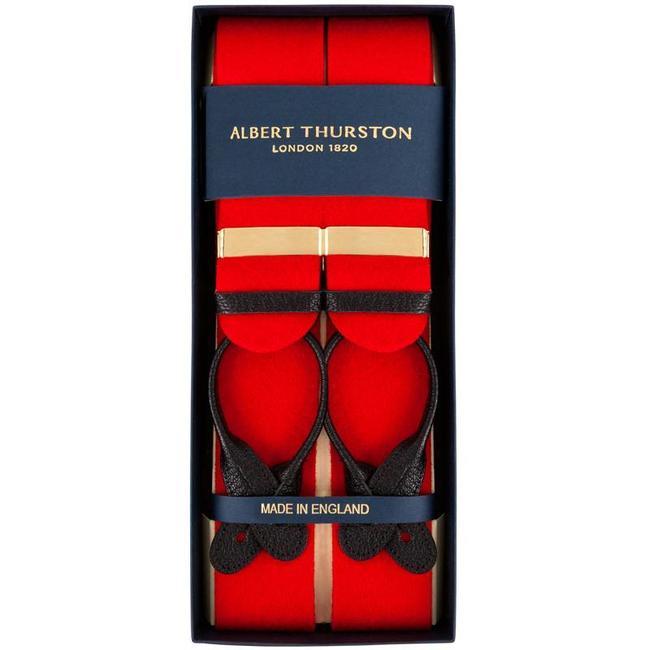 Albert Thurston Hosenträger Rot Wollfilz