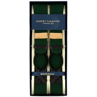 Albert Thurston Braces Green Boxcloth
