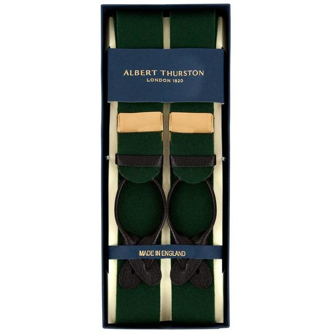 Albert Thurston Bretels Groen Boxcloth