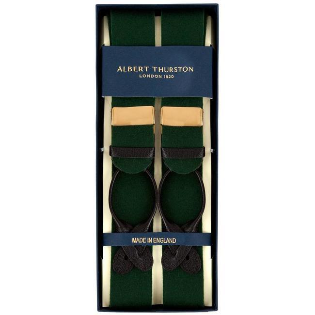 Albert Thurston Hosenträger Grün Wollfilz