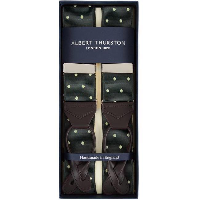 Albert Thurston Hosenträger Grün Weiß