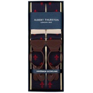 Albert Thurston Hosenträger Marine Rot französische Lilie