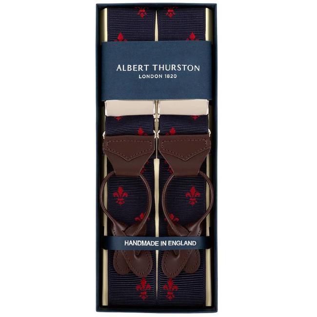 Albert Thurston Bretels Blauw Rood Franse Lelie