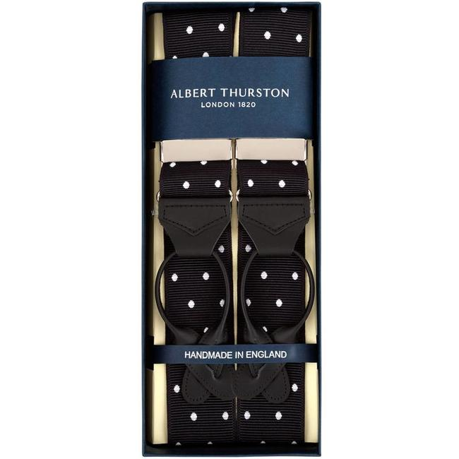 Albert Thurston Braces Black White