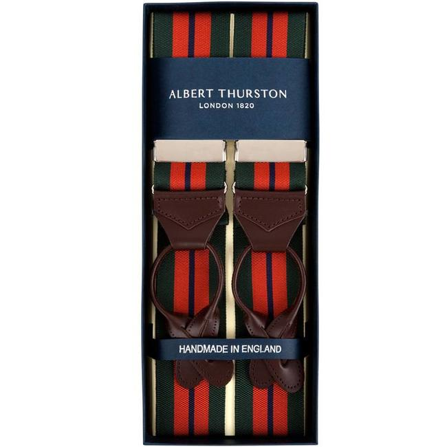 Albert Thurston Braces Green Orange