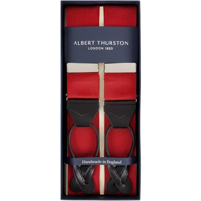 Albert Thurston Braces Red