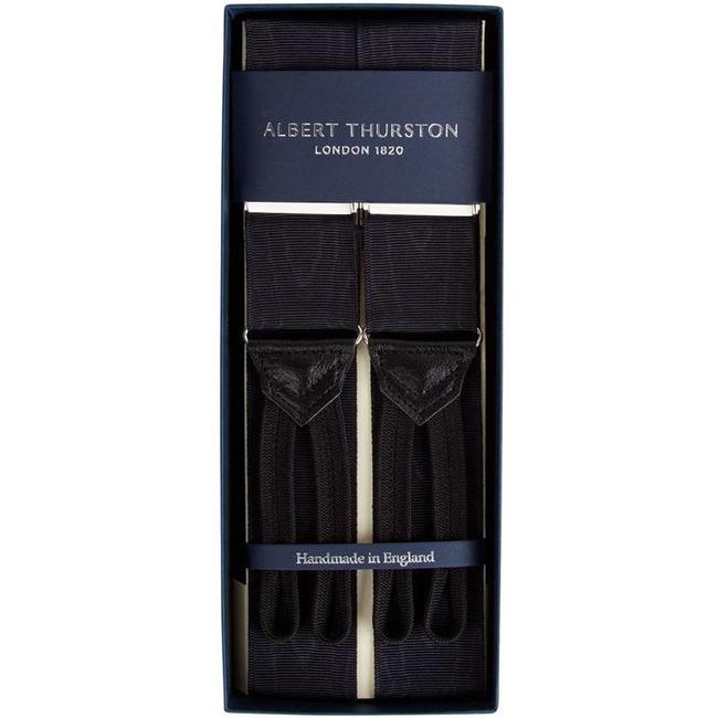 Albert Thurston Braces Black Moiré