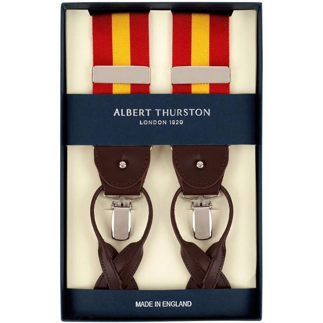 Albert Thurston Hosenträger Rot Gelb