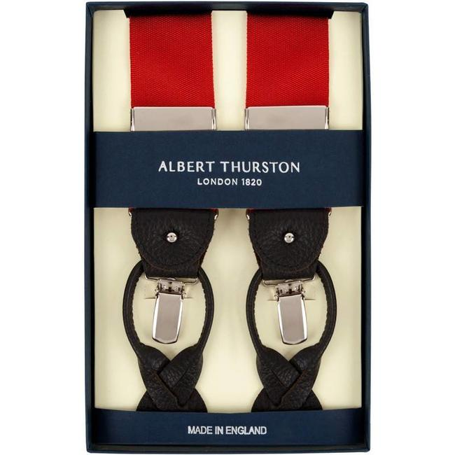 Albert Thurston Braces Red