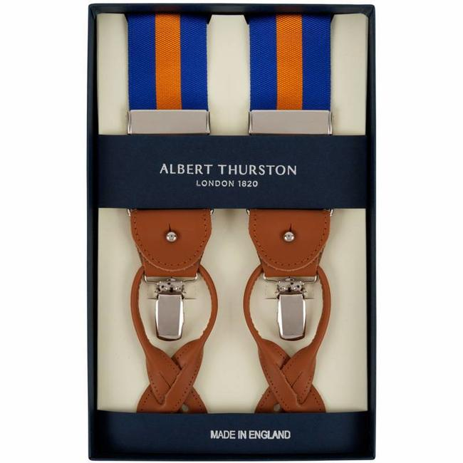 Albert Thurston Hosenträger Blau Orange
