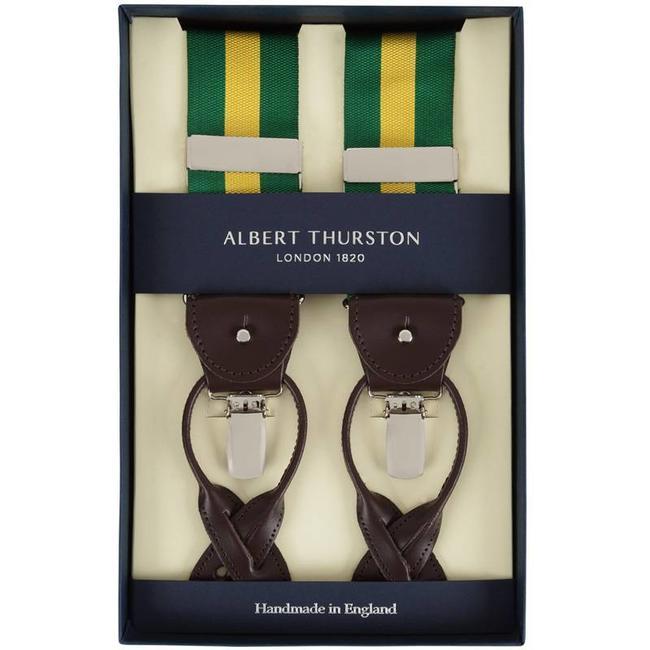 Albert Thurston Hosenträger Grün Gelb