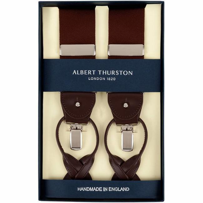 Albert Thurston Hosenträger Braun