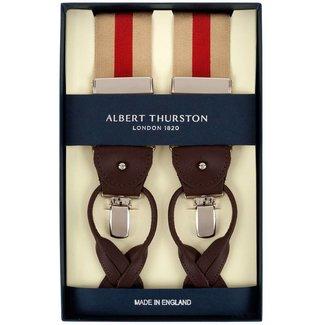 Albert Thurston Bretels Beige Rood