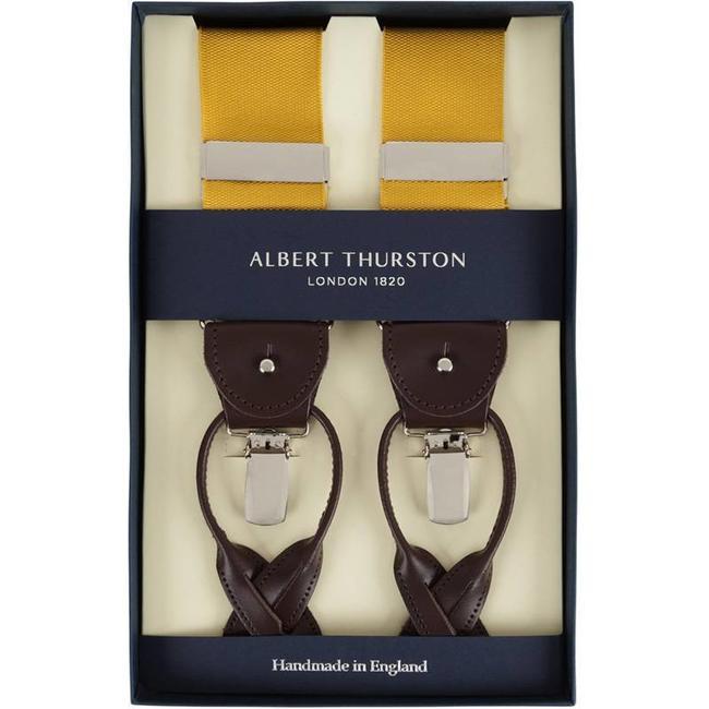 Albert Thurston Hosenträger Ockergelb
