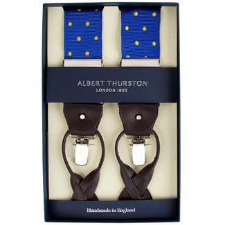 Albert Thurston Braces Blue Yellow