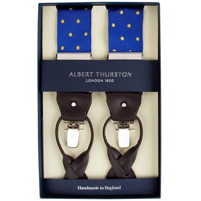 Albert Thurston Bretels Blauw Geel