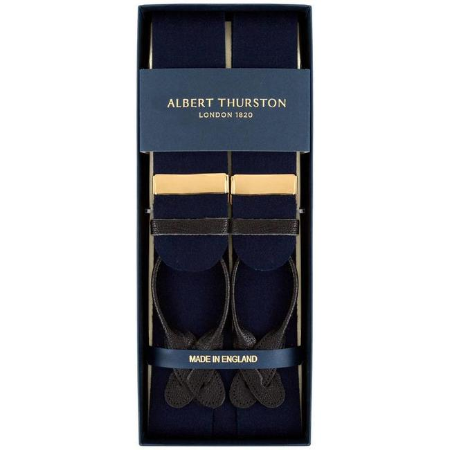 Albert Thurston Braces Navy Boxcloth