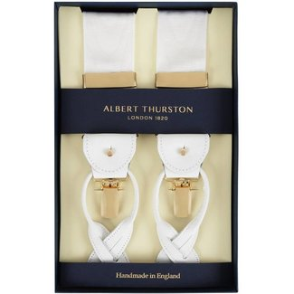 Albert Thurston Braces White Moiré