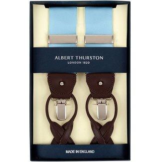 Albert Thurston Braces Aqua Blue