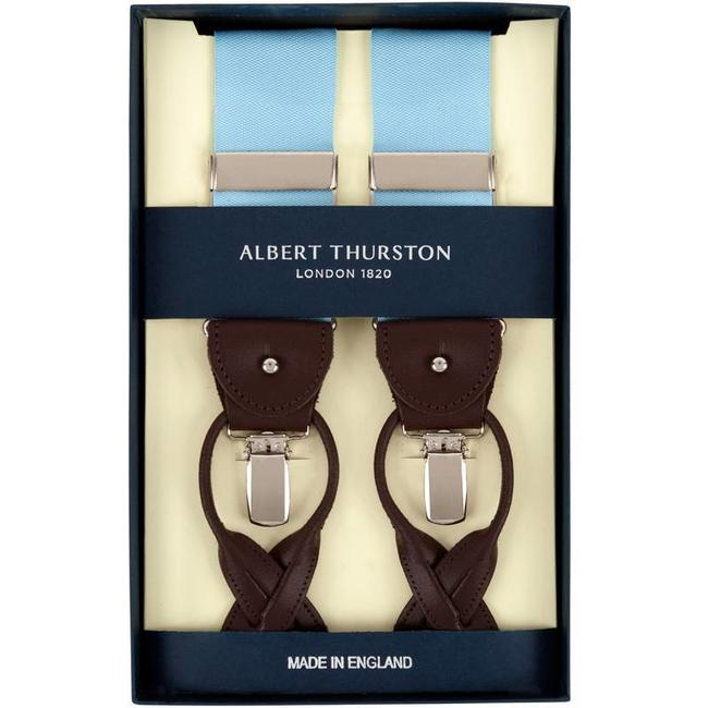 Albert Thurston Bretels Aqua Blauw