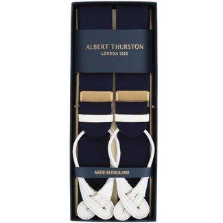 Albert Thurston Hosenträger Marine Wollfilz