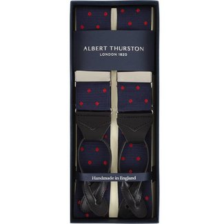 Albert Thurston Braces Navy Red