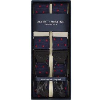 Albert Thurston Hosenträger Blau Rot