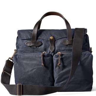 Filson 24-hour Tin Cloth Briefcase 11070140 Navy