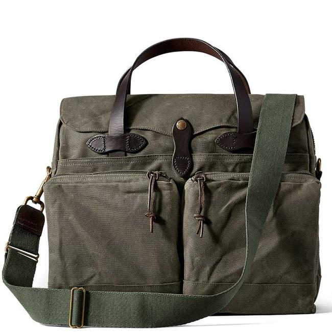 Filson 24-hour Tin Cloth Briefcase 11070140 Groen