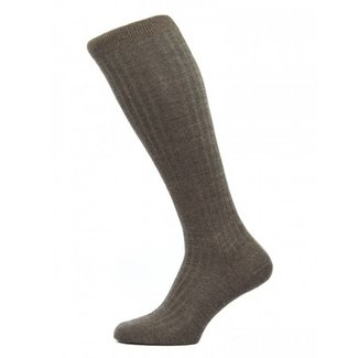 Pantherella OTC Socks Dark Brown Merino Wool Laburnum