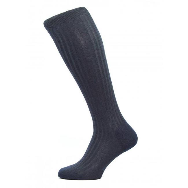 Pantherella OTC Socks Navy Merino Wool Laburnum