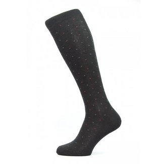 Pantherella OTC Socks Black Mini Diamond Merino Wool Earlham