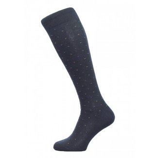 Pantherella OTC Socks Navy Mini Diamond Merino Wool Earlham