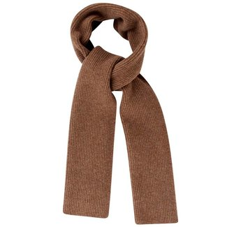 Mr. Crevan Plain Rib Wool Scarf Driftwood