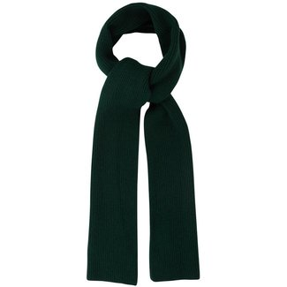 Mr. Crevan Plain Rib Wool Scarf Tartan Green