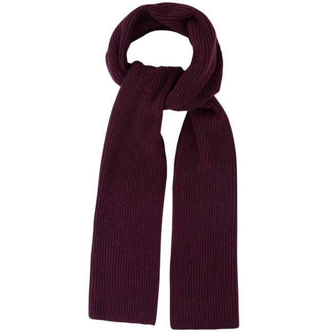 Mr. Crevan Donegal Wool Scarf Burgundy