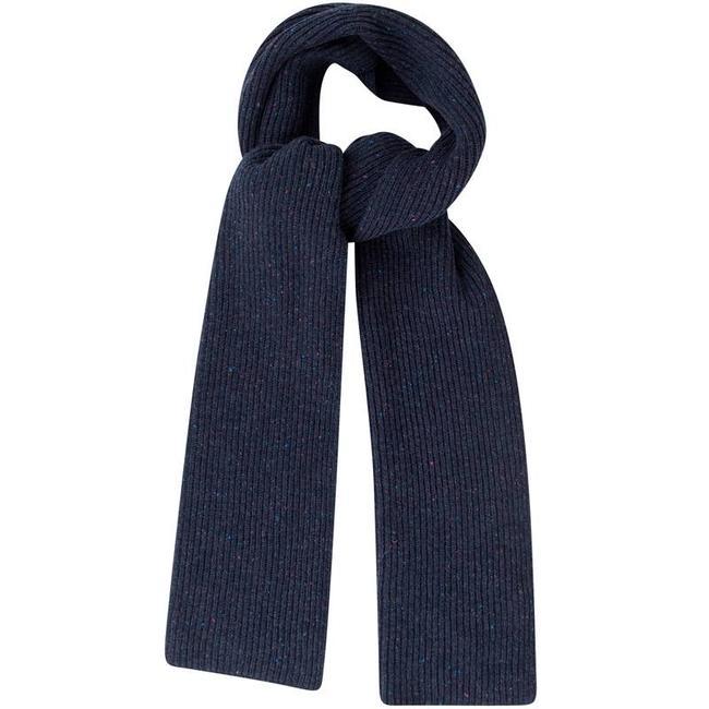 Mr. Crevan Donegal Wool Scarf Navy