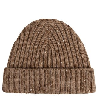 Mr. Crevan Donegal Wool Beanie Beige