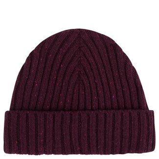 Mr. Crevan Donegal Wool Beanie Burgundy