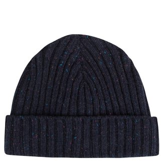 Mr. Crevan Donegal Wool Beanie Navy