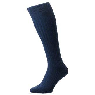 Pantherella OTC Socks Dark Blue Merino Wool Laburnum