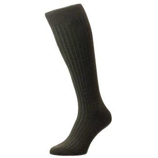 Pantherella OTC Socks Oliv Green Merino Wool Laburnum