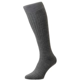 Pantherella OTC Socks Light Grey Merino Wool Laburnum