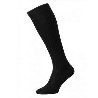 Pantherella OTC Socks Black Cotton Danvers