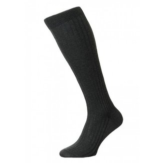 Pantherella OTC Socks Dark Grey Cotton Danvers