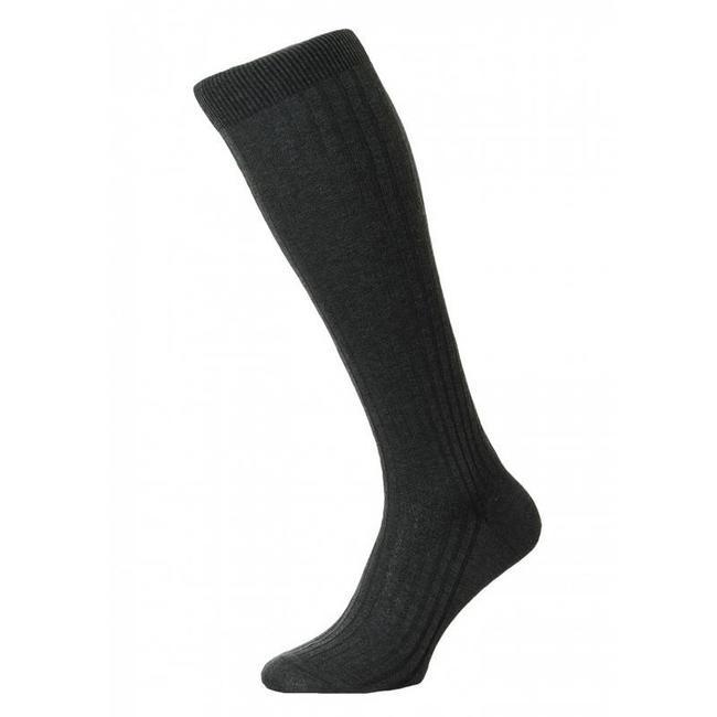 Pantherella OTC Socks Dark Grey Cotton Danvers