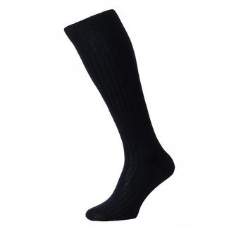 Pantherella OTC Socks Navy Cotton Danvers