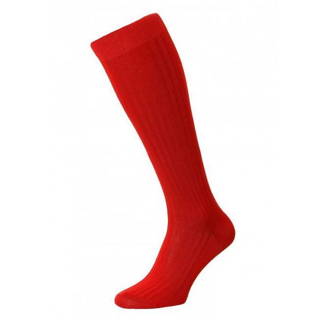 Pantherella OTC Socks Red Cotton Danvers