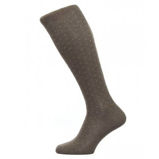 Pantherella OTC Socks Brown Pin Dot Cotton Gadsbury