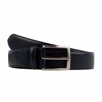 Leyva Calf Leather Belt Navy